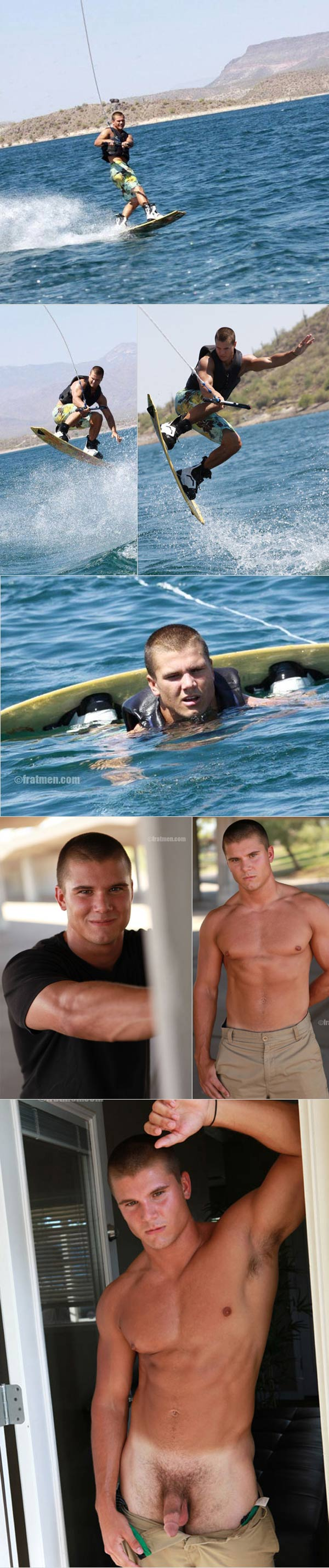 Ace (Naked Muscle Wakeboarder) at Fratmen.tv