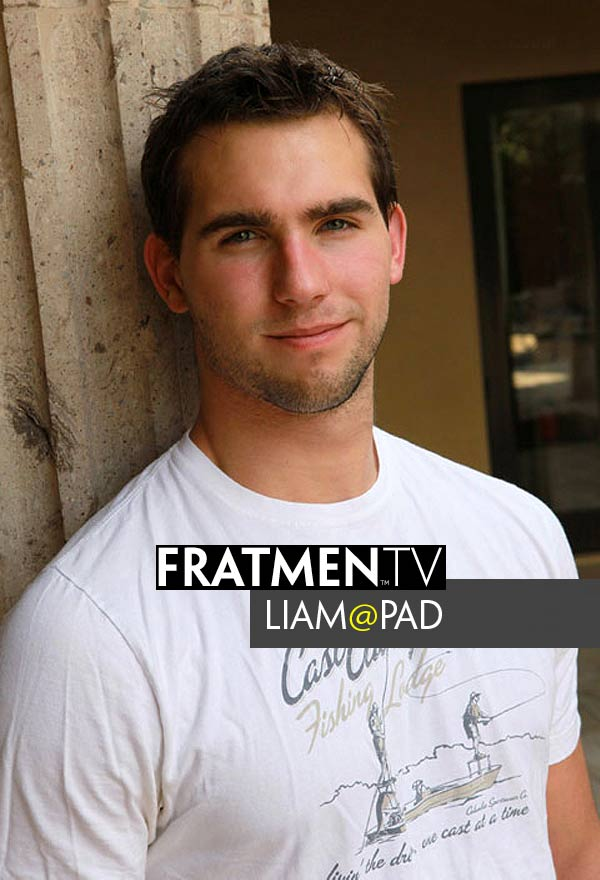 Liam (at the Fratpad) at Fratmen.tv