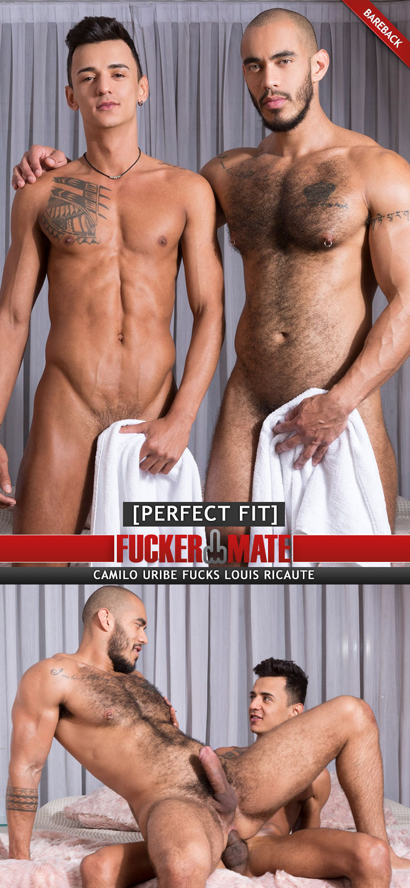 Perfect Fit (Camilo Uribe Fucks Louis Ricaute) (Bareback) at Fuckermate