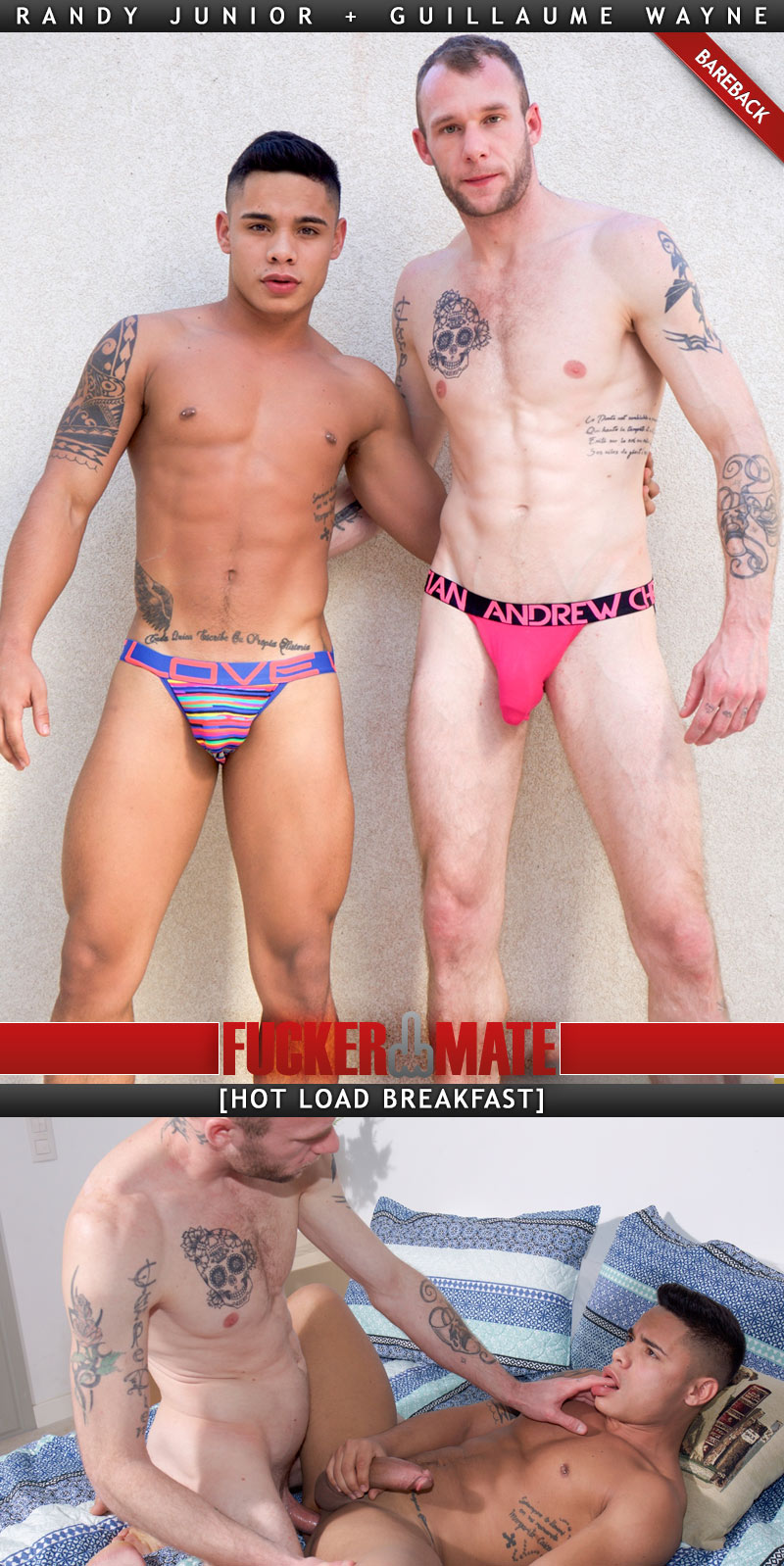 Hot Load Breakfast (Guillaume Wayne Fucks Randy Junior) (Bareback) at Fuckermate