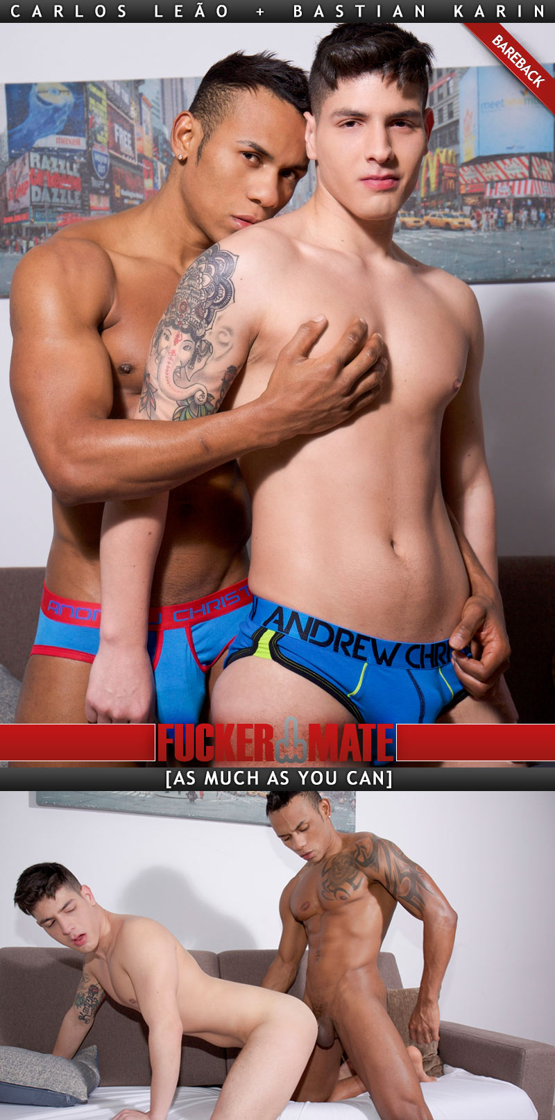 As Much As You Can (Carlos Leão Fucks Bastian Karin) (Bareback) at Fuckermate