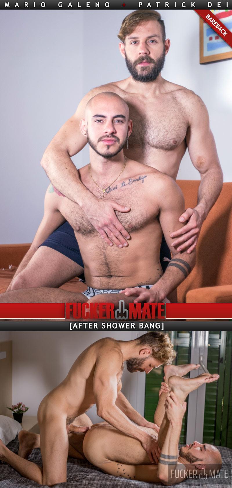 After-Shower Bang (Mario Galeno Barebacks Patrick Dei) at Fuckermate