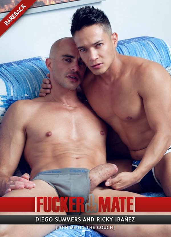 Join Me On The Couch (Diego Summers Fucks Ricky Ibañez) (Bareback) at Fuckermate