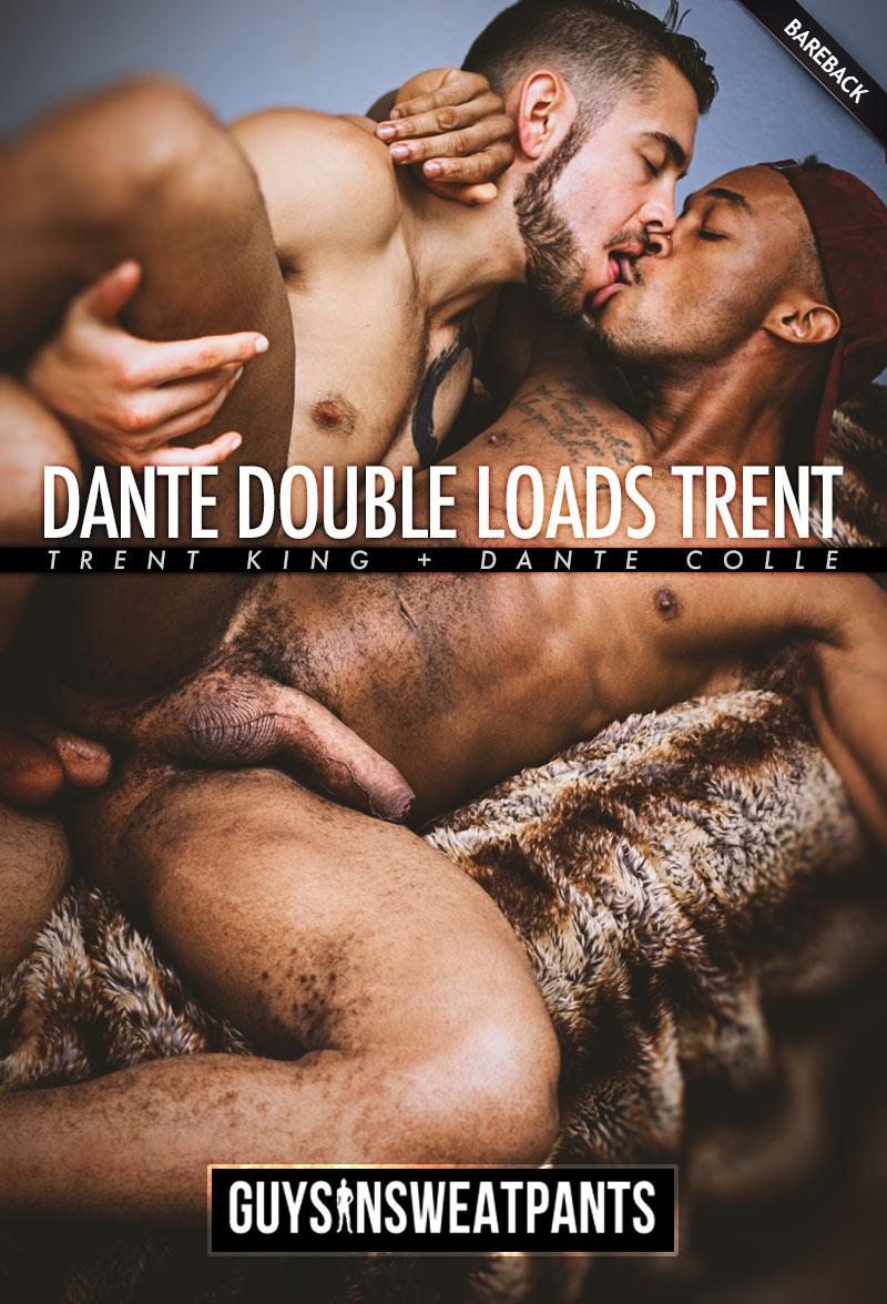 Dante Double-Loads Trent (Dante Colle Fucks Trent King) (Bareback) at Guys In Sweatpants