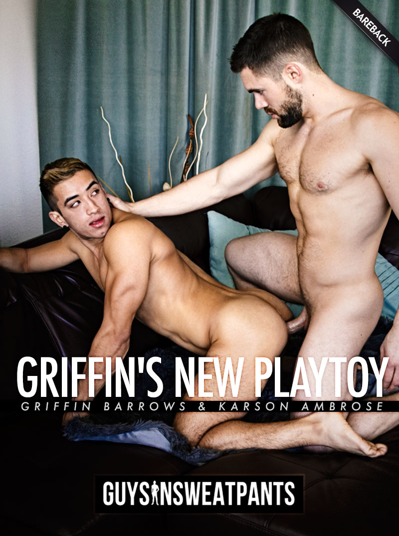 Griffin's New Playtoy (Griffin Barrows and Karson Ambrose Flip-Fuck) (Bareback) at Guys In Sweatpants