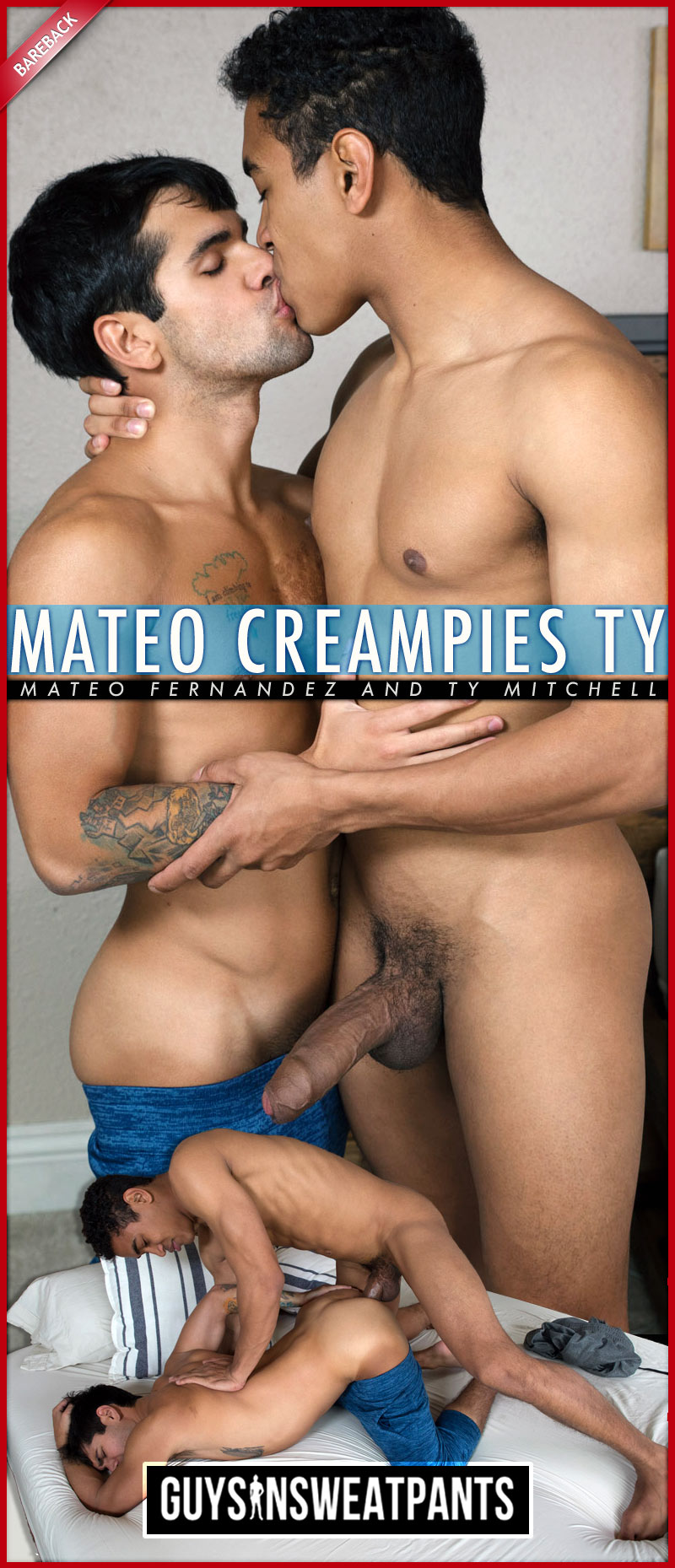 Mateo Fernandez Creampies Ty Mitchell at Guys In Sweatpants
