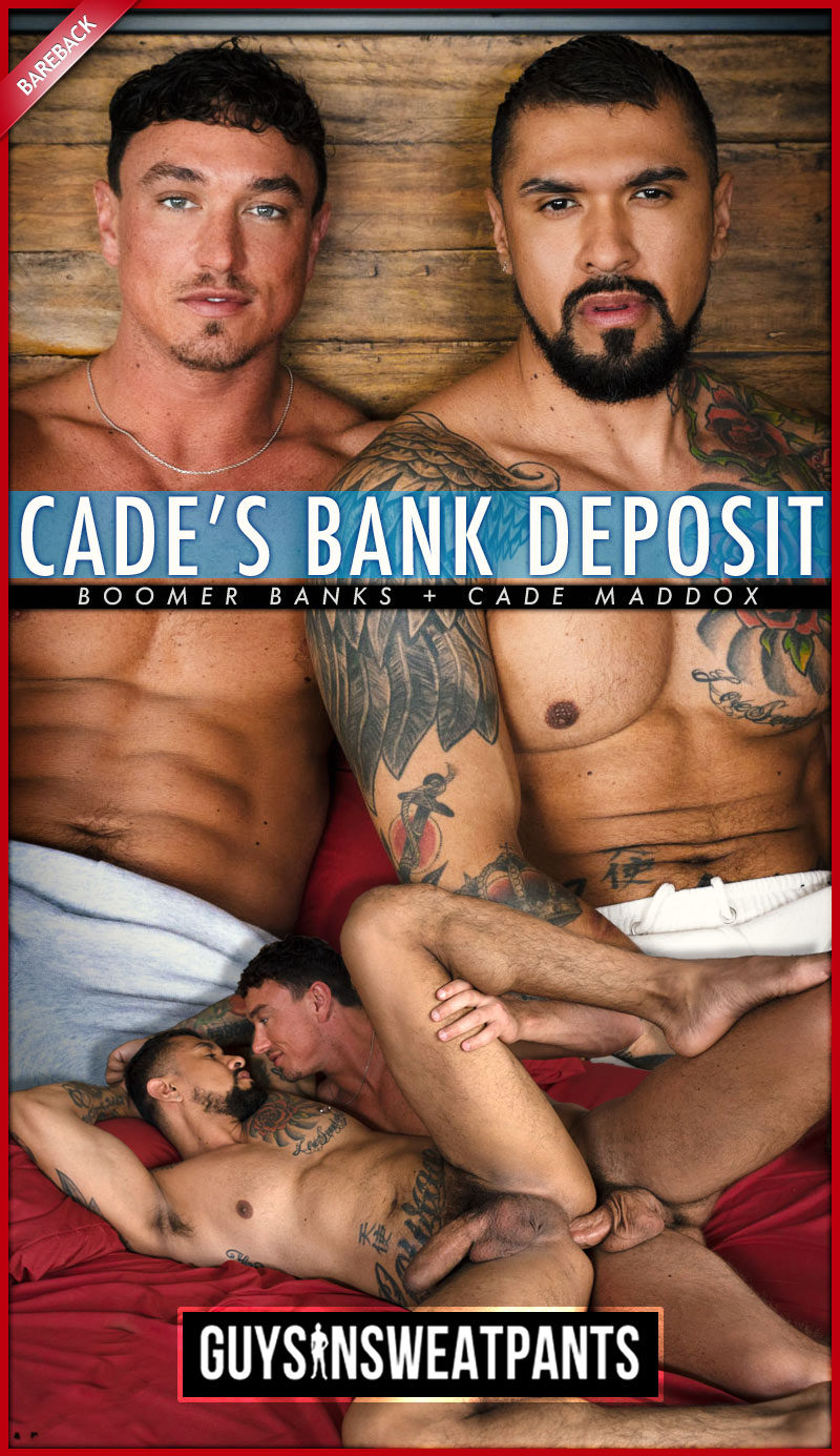 Cade's Bank Deposit (Cade Maddox Fucks Boomer Banks) (Bareback) at Guys In Sweatpants