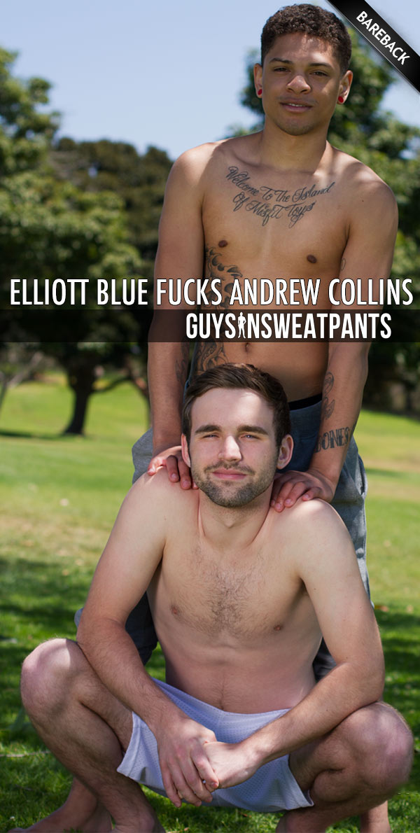 Elliott Blue Fucks Andrew Collins (Bareback) at Guys In Sweatpants