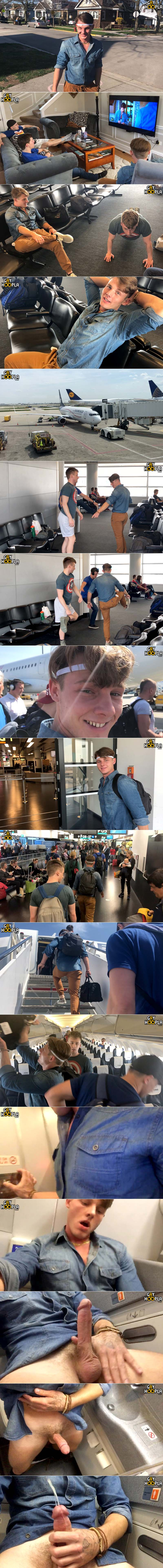 Price Hogan (Jerks Off On Airplane To Europe) at GayHoopla