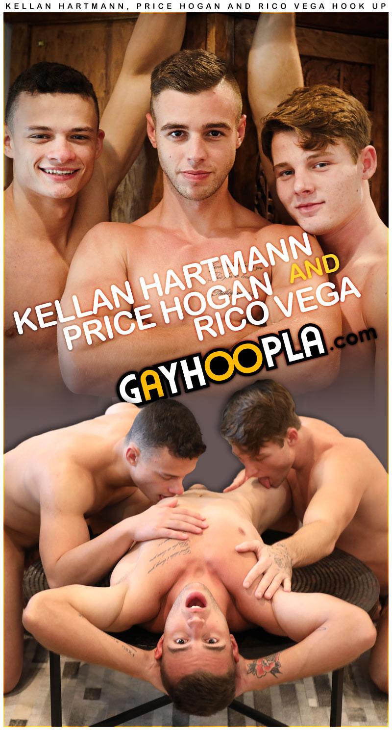Kellan Hartmann, Price Hogan and Rico Vega Hook Up at GayHoopla