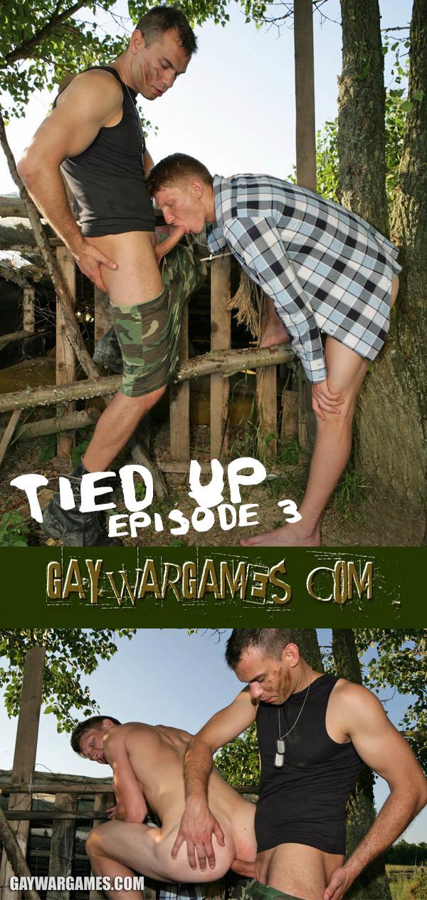 Tied Up (Episode 3) (Bareback) at Gay War Games