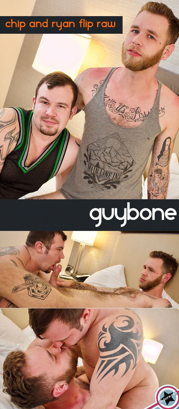 Chip Young and Ryan Powers (Bareback Flip-Fuck) at GuyBone