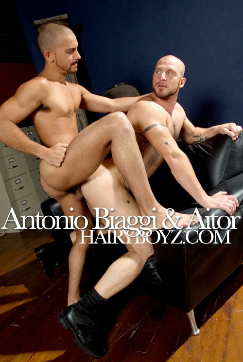 Antonio Biaggi & Aitor at HairyBoyz