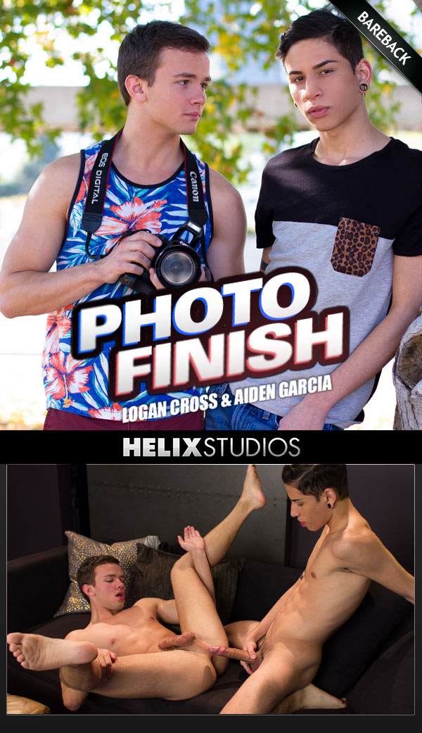 Photo Finish (Aiden Garcia Fucks Logan Cross) (Bareback) at HelixStudios
