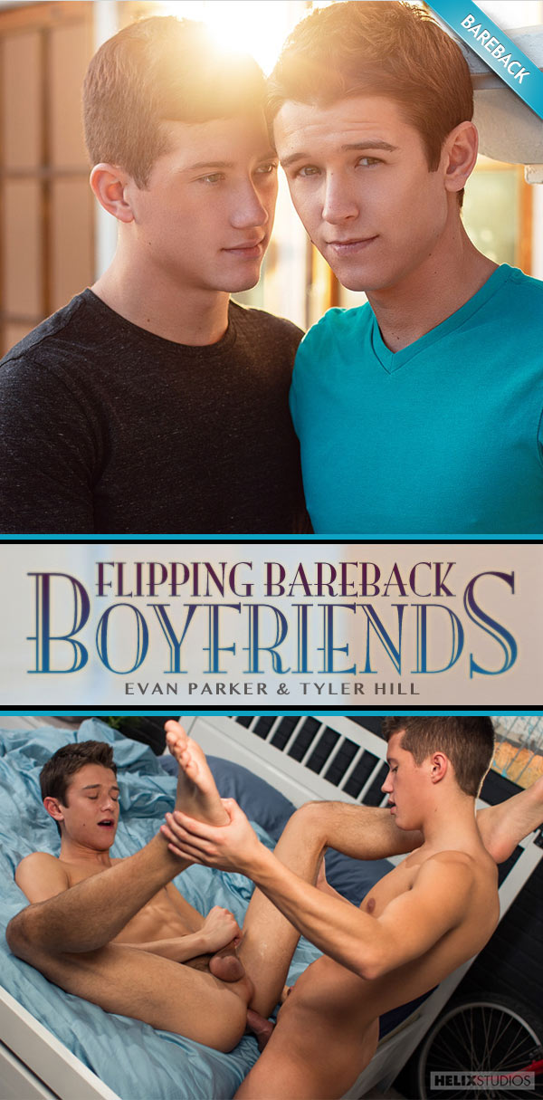 Flipping Bareback Boyfriends (Evan Parker & Tyler Hill) at HelixStudios