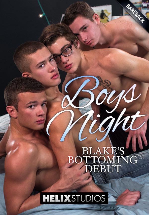 Boys Night (Blake Mitchell, Logan Cross, Colton James and Sean Ford) (Bareback) at HelixStudios
