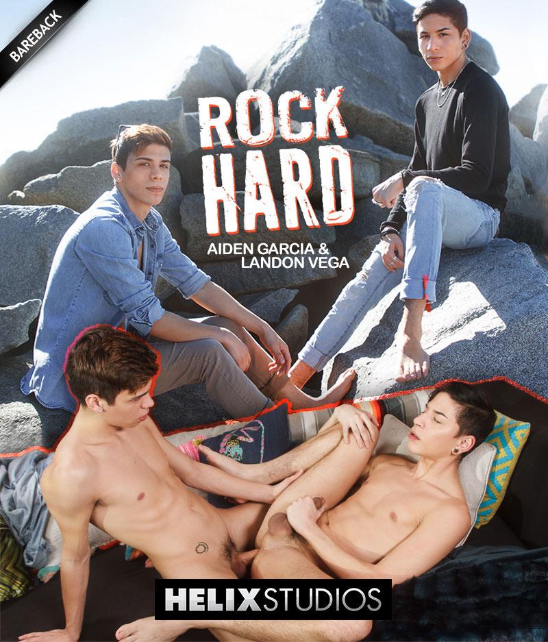 Rock Hard (Aiden Garcia and Landon Vega Flip-Fuck) (Bareback) at HelixStudios