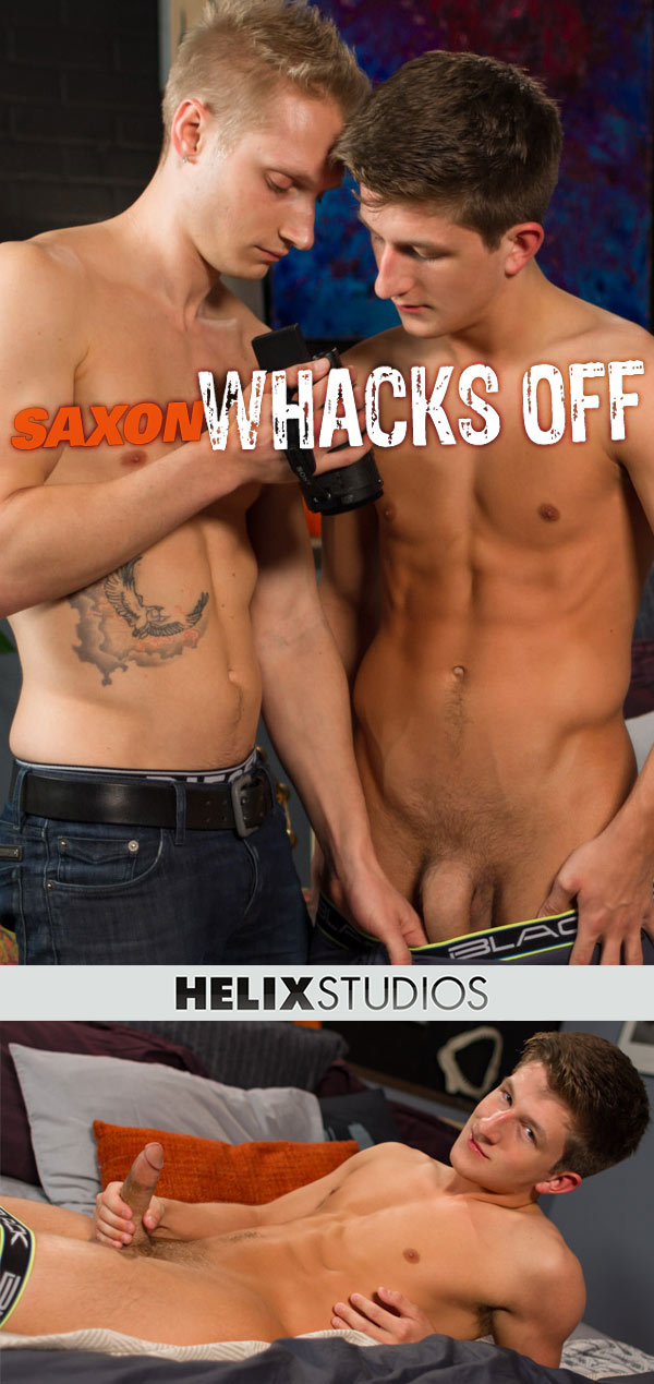 Oliver Saxon Whacks Off (with Max Carter) at HelixStudios