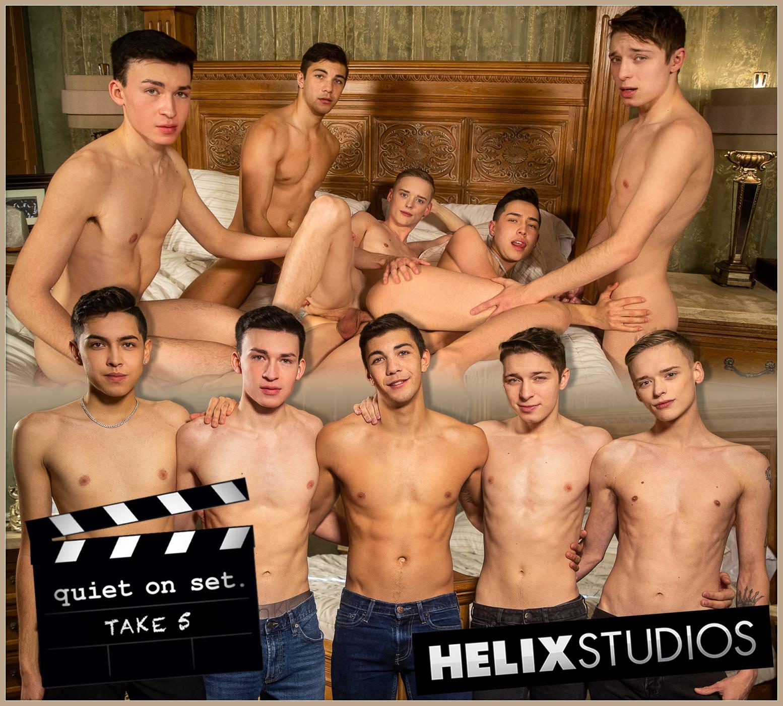 Quiet On Set!, Take Five (Alex Riley, Devin Holt, Jacob Hansen, Blake Dyson and Tyler Cortez) at HelixStudios