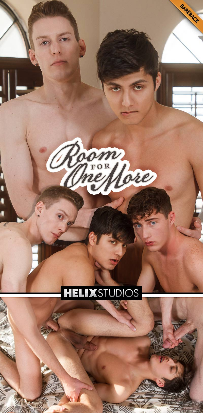 Room For One More (Kevin Daley and Cameron Parks Fuck Angel Rivera) (Bareback) at HelixStudios