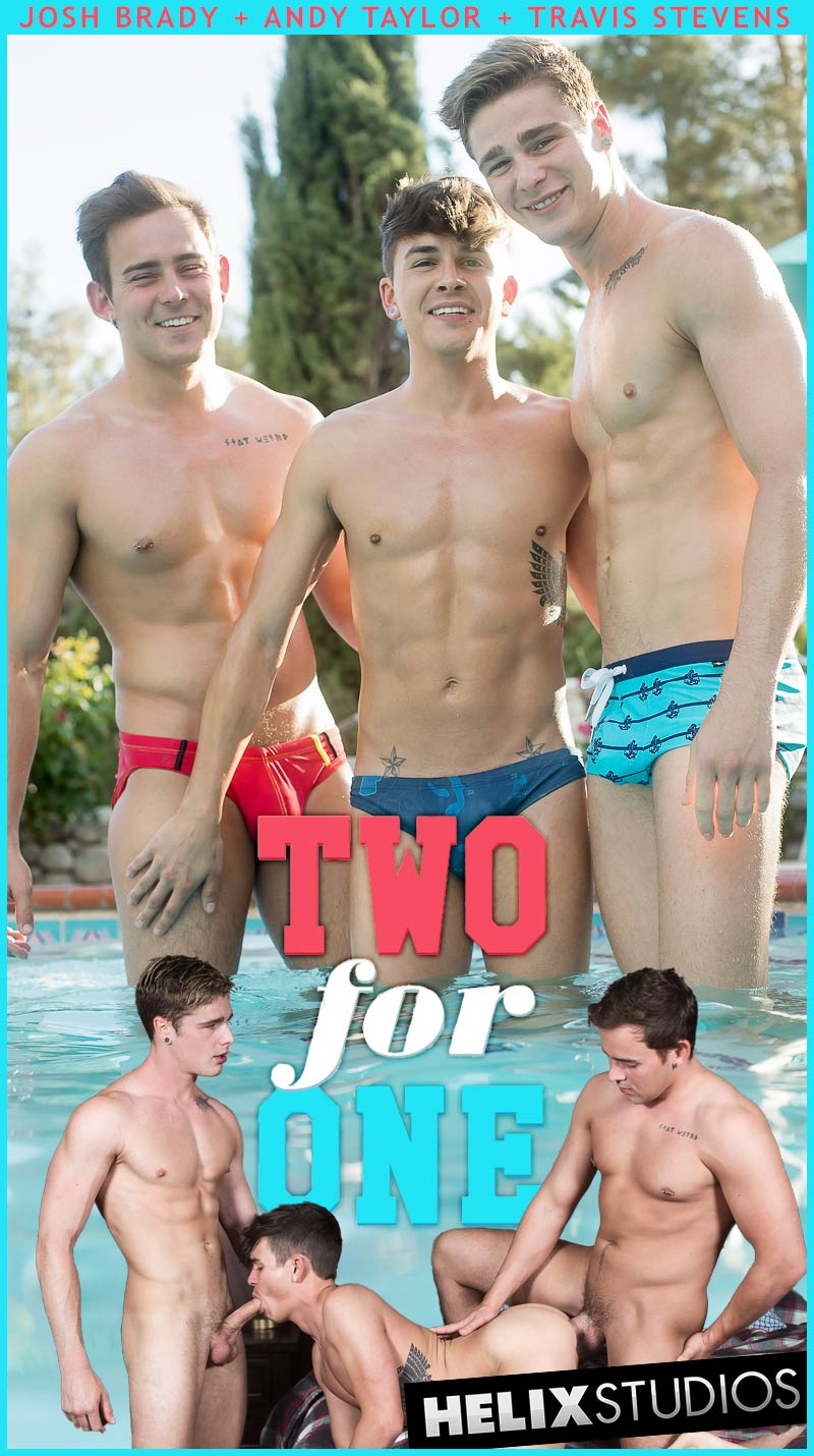 Two for One (Josh Brady, Andy Taylor and Travis Stevens) (Bareback) at HelixStudios