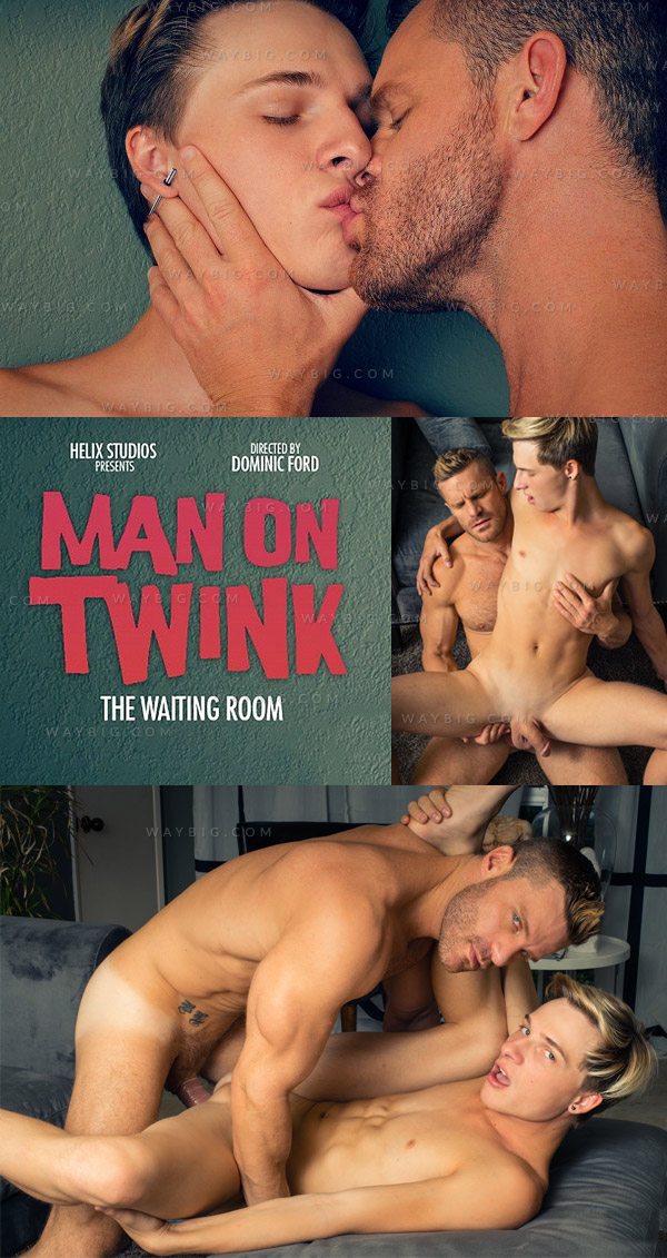 Man On Twink: The Waiting Room (Jessie Montgomery & Landon Conrad) at HelixStudios