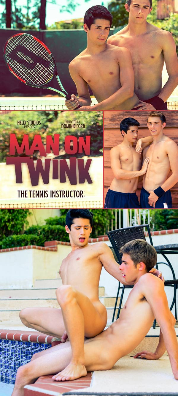 Man On Twink: The Tennis Instructor (Kody Knight & Liam Riley) at HelixStudios