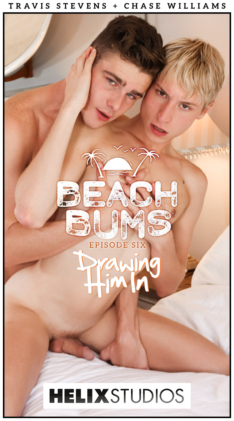 Helix Studios: Travis Stevens Fucks Chase Williams in 'Beach Bums 6: Drawing Him In' on Cock4Cock