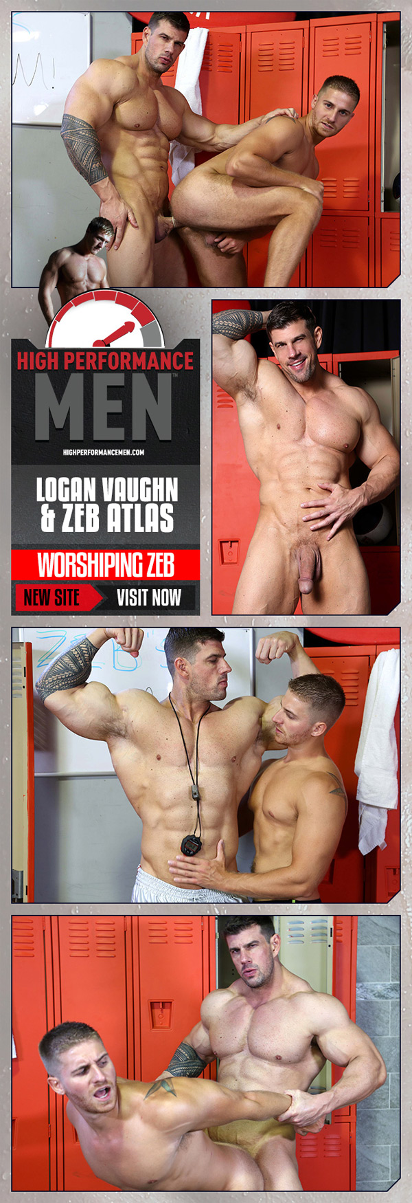 Worshiping Zeb (Logan Vaughn & Zeb Atlas) at High Performance Men