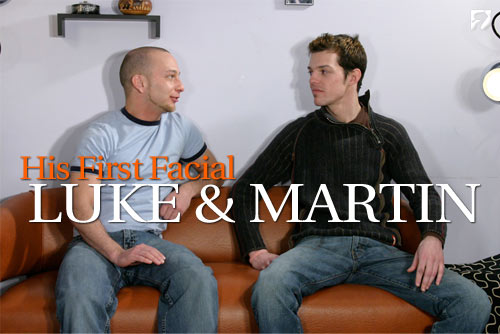 Martin & Luke at His First Facial