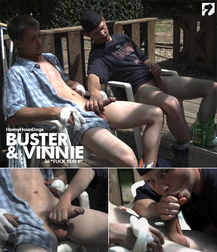Buster and Vinnie at HornyHounDogs