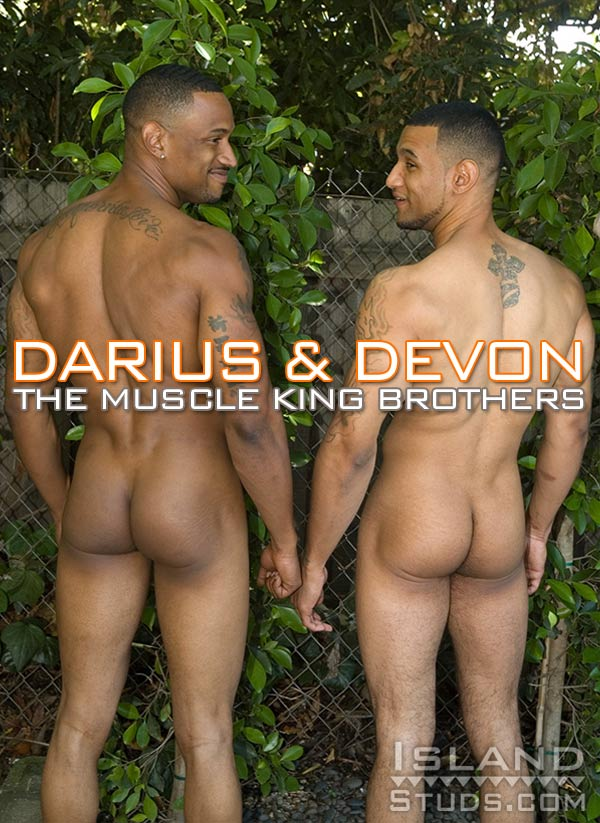 Darius & Devon (The Muscle King Brothers) at IslandStuds