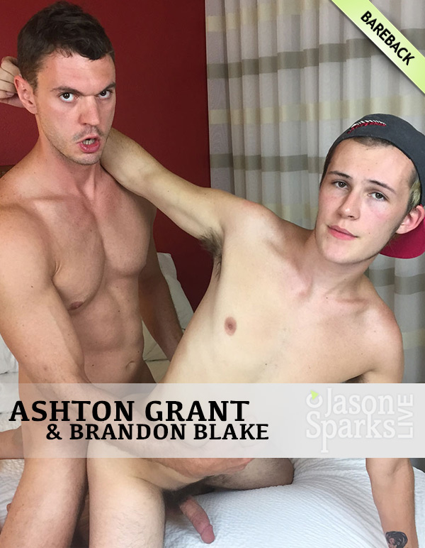 Brandon Blake Fucks Ashton Grant (Bareback in San Antonio) at Jason Sparks Live