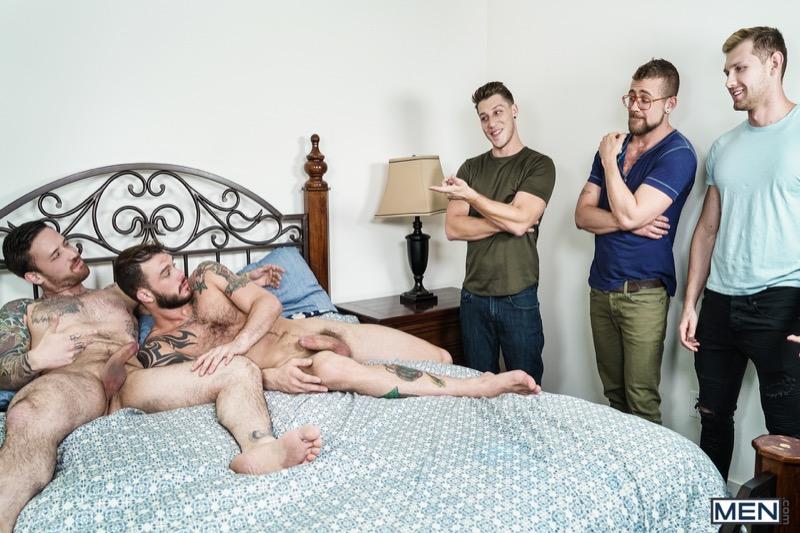 Gaymates, Part 3 (Jordan Levine, Cliff Jensen, Jay Austin, Jacob Peterson and Paul Canon) at JizzOrgy