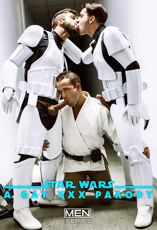 Star Wars 4 : A Gay XXX Parody (Hector De Silva, Luke Adams, Paddy O'Brian & Troopers) at Drill My Hole