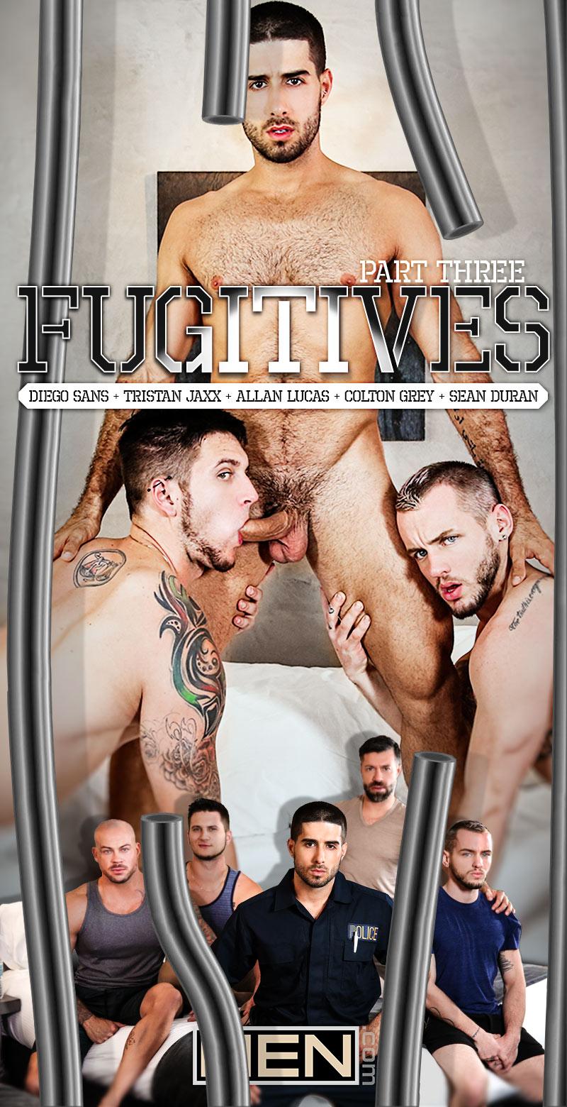Fugitives, Part 3 (Diego Sans, Tristan Jaxx, Allan Lucas, Colton Grey and Sean Duran) at Jizz Orgy