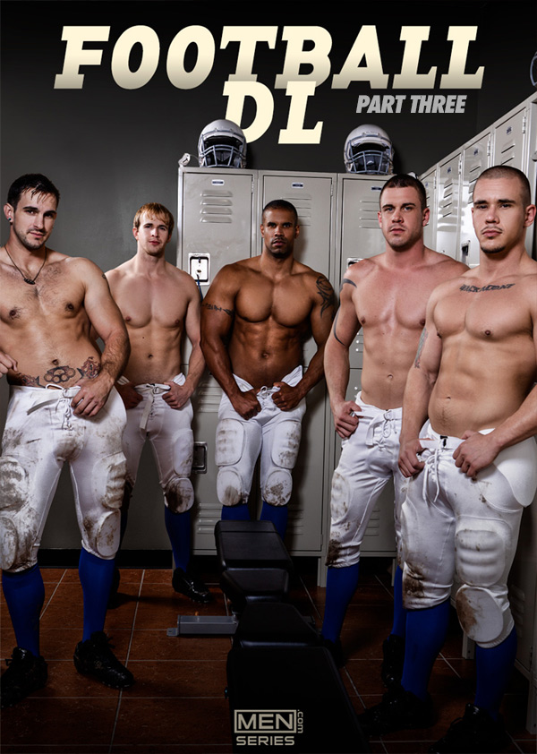 Football DL (Adam Bryant, Cameron Foster, Darin Silvers, Phenix Saint & Robert Axel) (Part 3) at Jizz Orgy