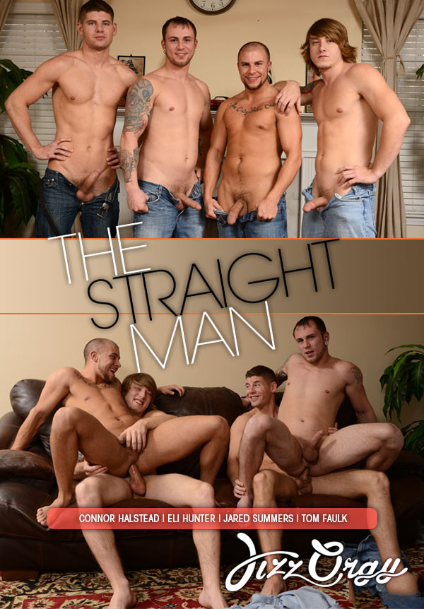 The Straight Man (Connor Halstead, Eli Hunter, Jared Summers & Tom Faulk) (Part 4) at JizzOrgy