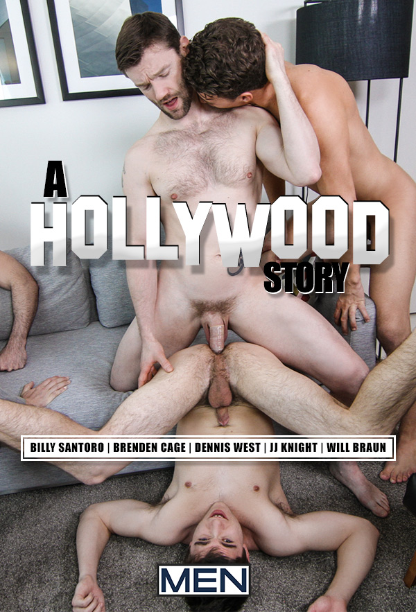 A Hollywood Story (Billy Santoro, Brenden Cage, Dennis West, JJ Knight & Will Braun) (Part 3) at Jizz Orgy