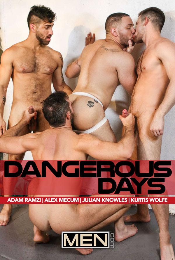 Dangerous Days (Adam Ramzi, Alex Mecum, Julian Knowles and Kurtis Wolfe) (Part 3) at Jizz Orgy