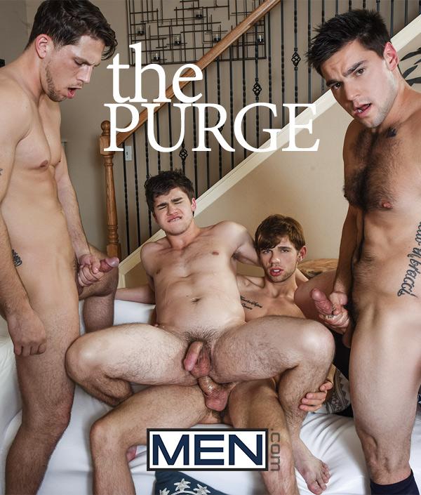 The Purge (Aspen, Dalton Briggs, Roman Todd & Will Braun) at JizzOrgy