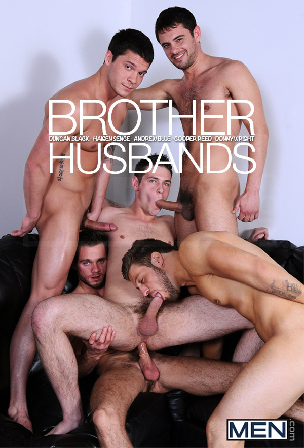 Brother Husbands (Duncan Black, Haigen Sence, Andrew Blue, Cooper Reed & Donny Wright) at JizzOrgy