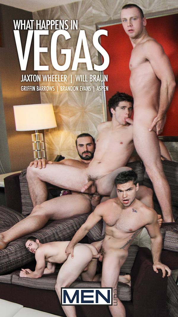 What Happens In Vegas (Jaxton Wheeler, Will Braun, Aspen, Griffin Barrows & Brandon Evans) (Part 4) at JizzOrgy