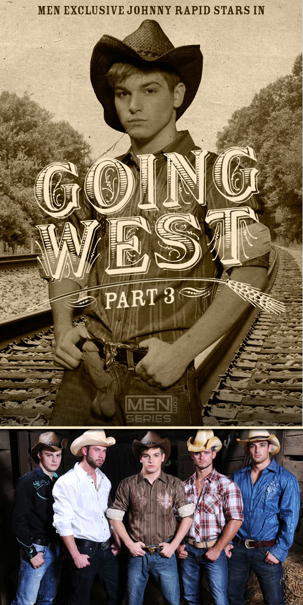Going West (Johnny Rapid, Chris Bines, Cooper Reed, Hunter Page & Jack King) (Part 3) at JizzOrgy