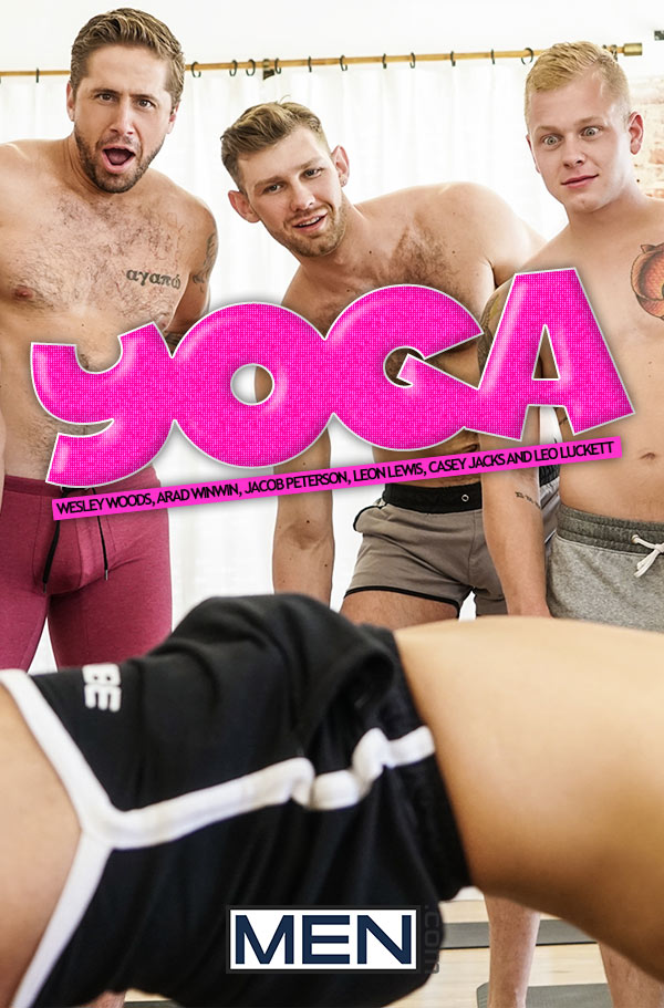 Yoga (Wesley Woods, Arad Winwin, Jacob Peterson, Leon Lewis, Casey Jacks and Leo Luckett) at JizzOrgy