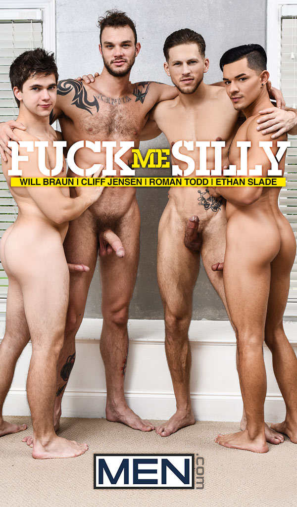 Fuck Me Silly (Will Braun, Cliff Jensen, Ethan Slade and Roman Todd) (Part 3) at JizzOrgy