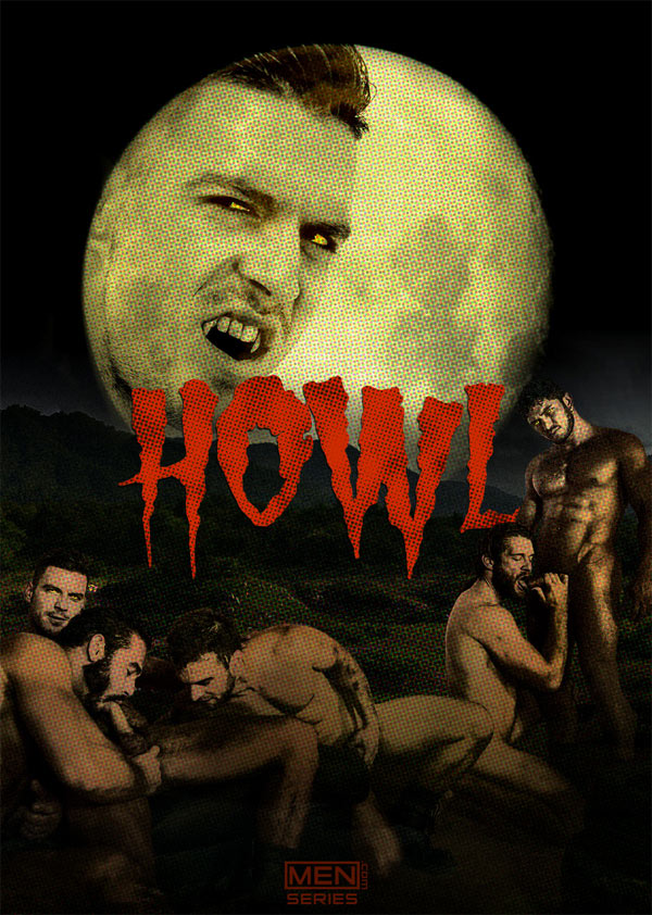 Howl: (Colby Keller, Dato Foland, Gabriel Clark, Jessy Ares & Paddy O'Brian) (Part 4) at JizzOrgy