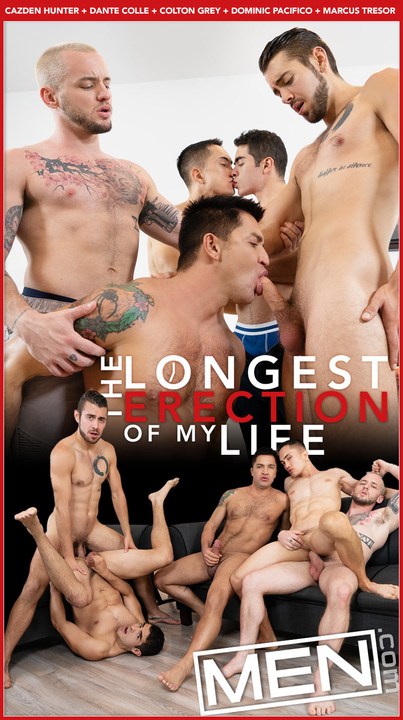 The Longest Erection of My Life, Part Three (Cazden Hunter, Dante Colle, Colton Grey, Dominic Pacifico and Marcus Tresor) at Drill My Hole