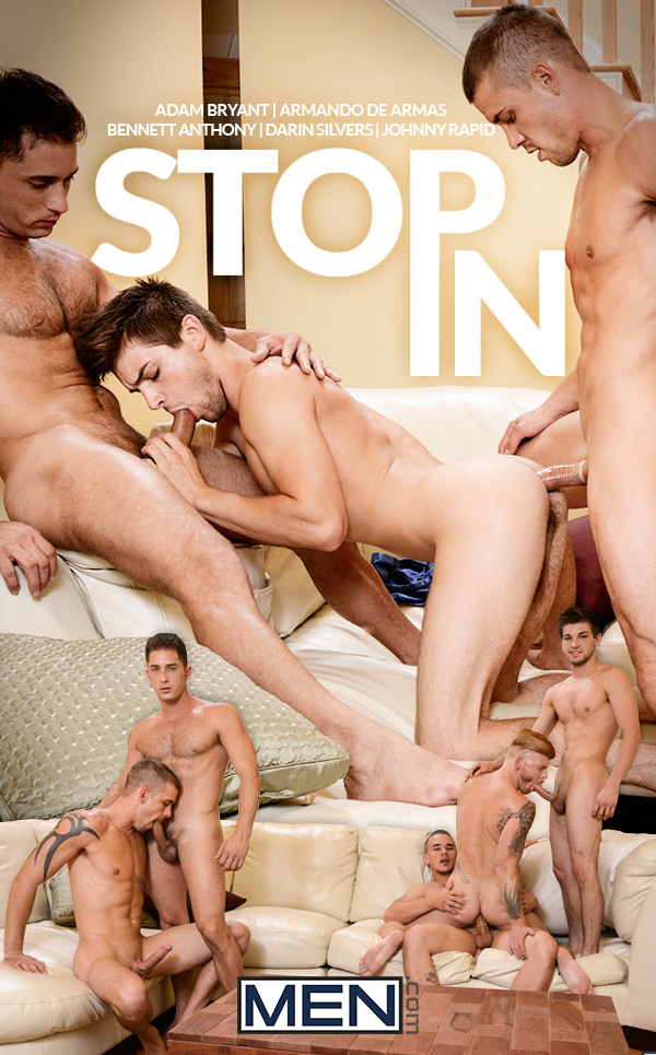 Stop In (Adam Bryant, Armando De Armas, Bennett Anthony, Darin Silvers & Johnny Rapid) at JizzOrgy.com
