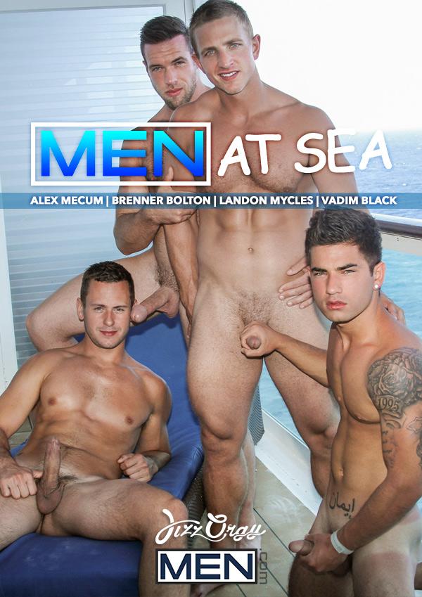 Men At Sea: Part 7 (Alex Mecum, Brenner Bolton, Landon Mycles and Vadim Black) at JizzOrgy